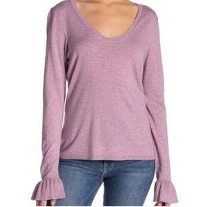 14th & Union Sweater Flared Cuffs Size XL Purple
